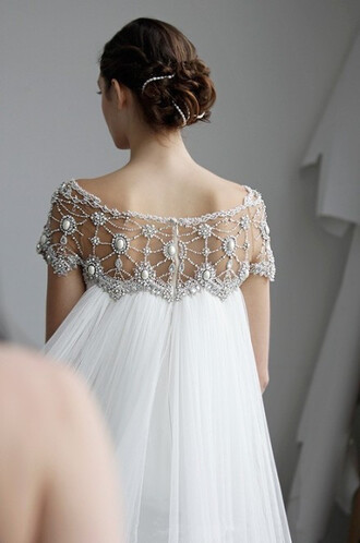 dress wedding dress backless white dress hollow out