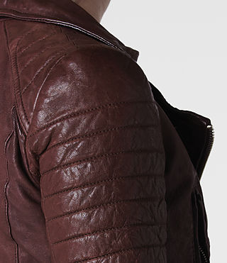 AllSaints Oxblood Leather Jacket | Womens Leather Jackets