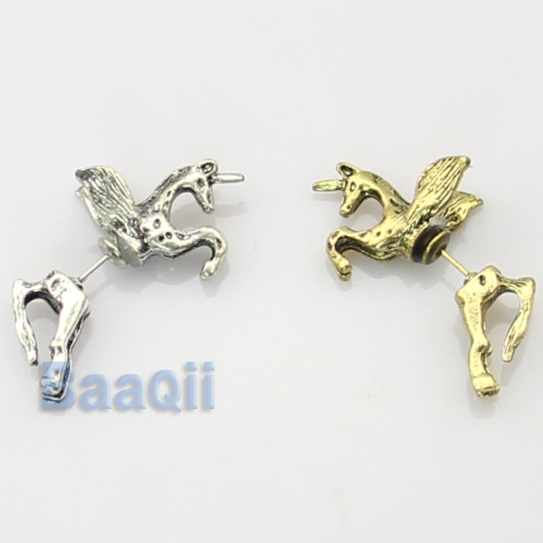1pcs Unicorn Earring Punk Through Ear Temptation Accessories Through Ear Cuff | eBay