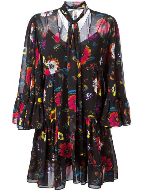McQ Alexander McQueen dress print dress women floral print black