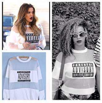 sweater crewneck crewneck sweater beyonce khloe kardashian white crewneck oversized sweater oversized white sweater pencil skirt blouse