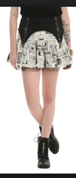 skirt newspaper skirt hot topic is out of stock :( been wanting for months