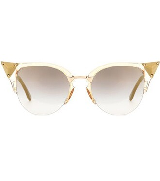 embellished sunglasses gold