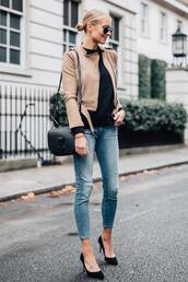fashionjackson,blogger,coat,jacket,fall outfits,pumps,beige jacket,shoulder bag