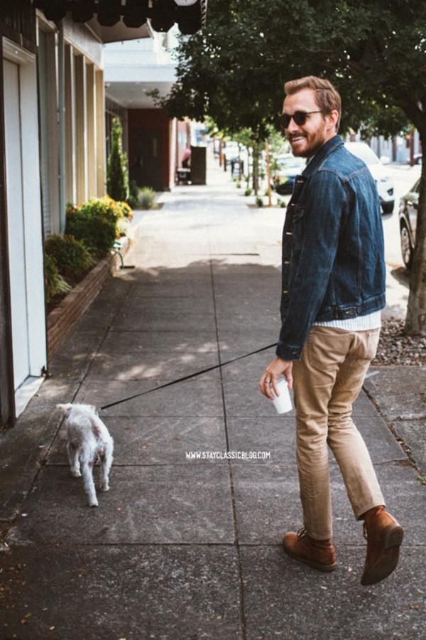 stay classic blogger jacket jeans shoes jewels sunglasses belt menswear denim jacket hipster shirt