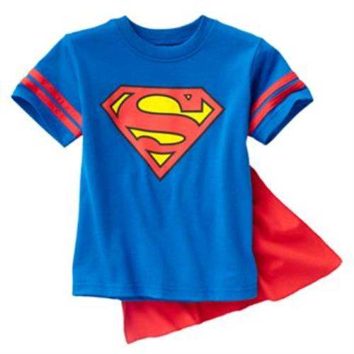 New DC Comics ✭ Toddler Boys Superman T Shirt with Cape ✭ Size 2T 3T 4T | eBay
