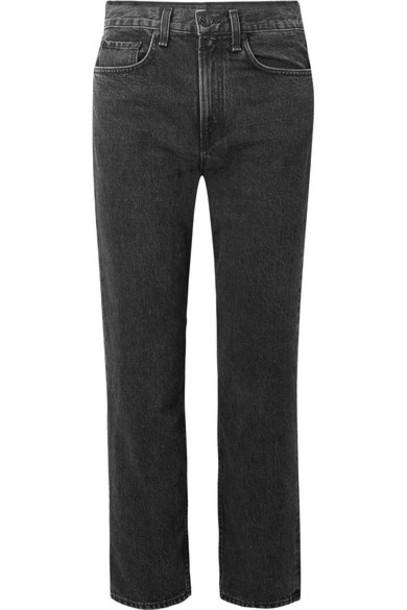 Rag & Bone jeans cropped high black