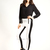 Women Colour Block Panel Black White Slim Thick Skinny Leggings Tights Legwear | eBay