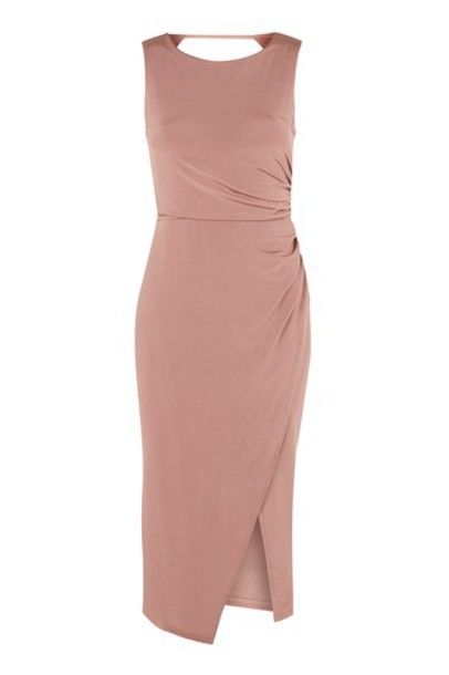 dress midi dress dark midi nude