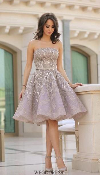 Silver Short Homecoming Dresses