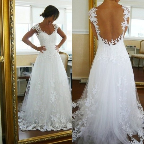 dress lace dress wedding dress lace pinterest wedding clothes wedding white vintage white dress prom dress open back floor length colorful bride deb debutante prom deb dress ivory lace vintage wedding dress lace wedding dress petals floral dress beautiful backless white dress white lace dress lace wedding dress flowers bleu wedding dress lace wedding dress white wedding lace floral pretty long bridesmaid dress sheer back dress applique wedding gowns long wedding dresses wedding dress beautiful back low back dress long dress white lace open back wedding dress elegant wedding dress lace wedding dress floral skirt wedding gowns 2015 white lace debutant/wedding dress wedding dress lace white prom dress white open back gown clothes dress fashion wedding dress floral decal short sleeve white wedding dress tulle flowers ell a-line wedding dresses