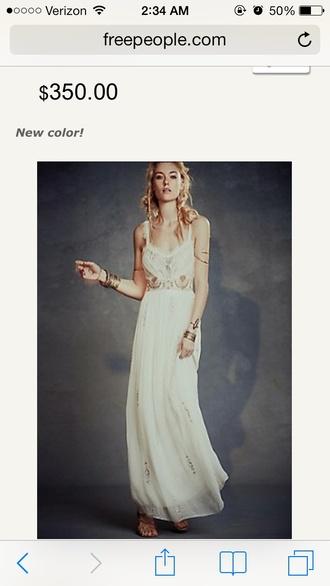 white dress long prom dress vintage hippie cute dress chicityfashion chic dress fashion