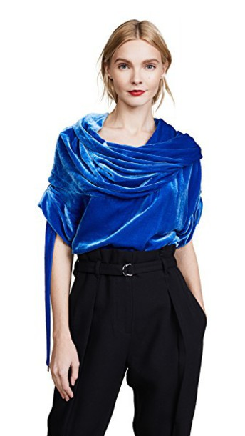 Monse top velvet top velvet blue