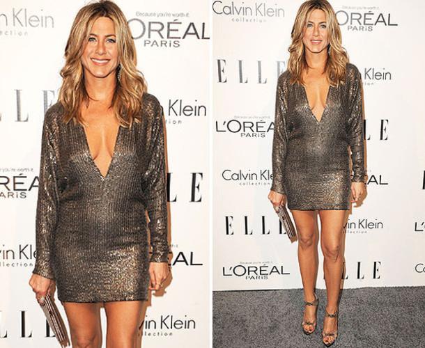 Glitter Dress Metallic Dress