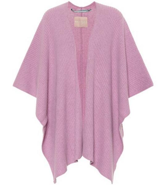 81hours Xavia wool-blend cape in purple