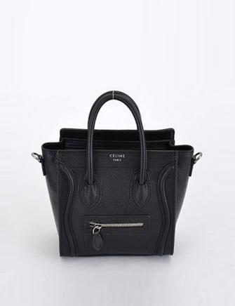Celine nano luggage bag in black