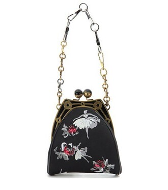 jacquard embellished bag shoulder bag black