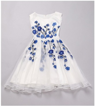 dress short dress women blue dress flower dress lovely dress