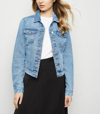 Blue Bleach Wash Denim Jacket | New Look