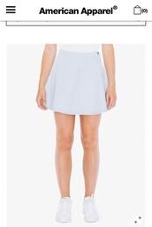skirt,light blue wash denim skater skirt