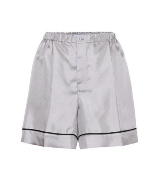 Prada shorts silk grey