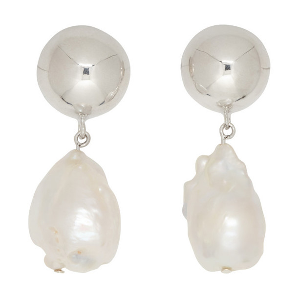 Sophie Buhai Silver Pearl Francis Earrings
