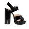Black platform leather sandals