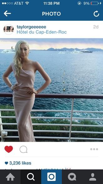 dress pink evening dress elegant dress prom dress nude dress