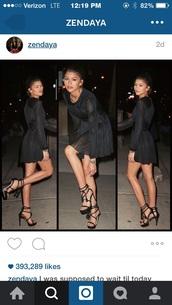 dress,summer dress,black dress,black,prom dress,prom,zendaya,short dress,beautiful