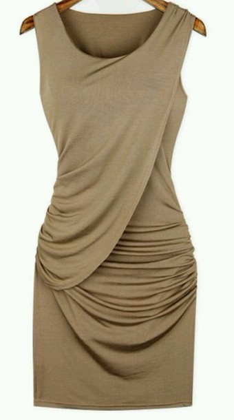 dress draped dress women girly summer dress