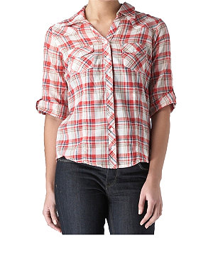 Checked western shirt