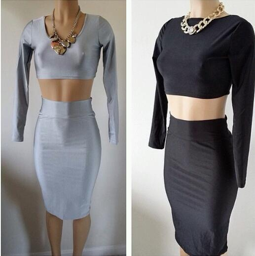 Lethalbeauty ? two piece high waist skirt set