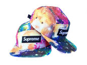 hat,galaxy print,supreme,color/pattern,dope