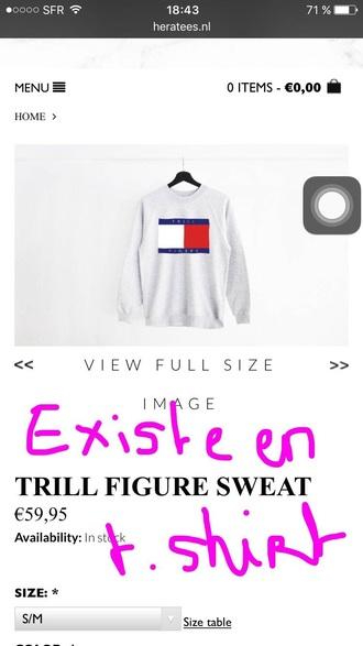 sweater hoodie tommy hilfiger sweatshirt grey grey sweater grey hoodie