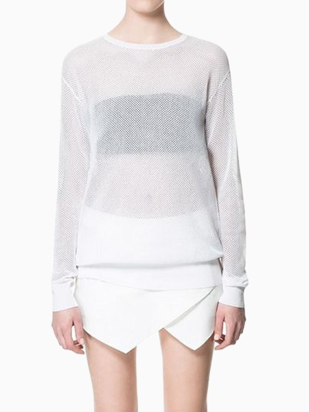 New Look Lucid Sexy Blouse In White | Choies