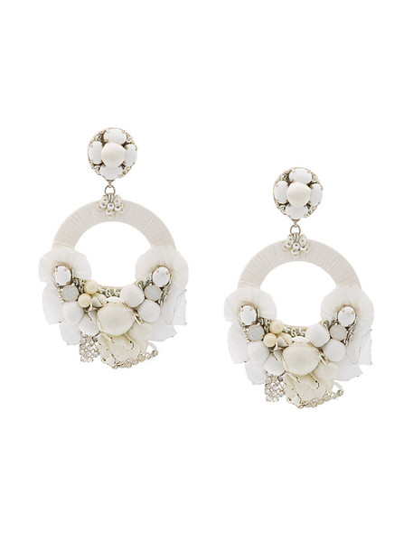 Ranjana Khan women earrings white jewels