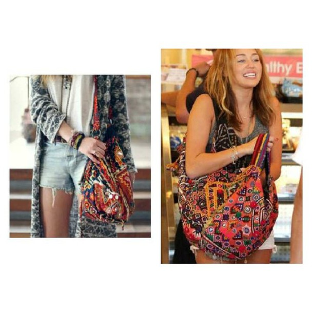 bag boho bohemian hippie coat funny miley cyrus