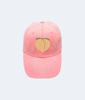 hat,peach,patch,pink cap,emoji print,summer accessories,90s style