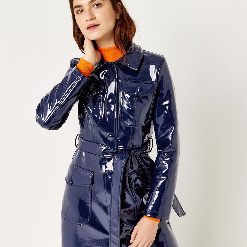 lovely design Discover factory WAREHOUSE PATENT TRENCH COAT, GWEN STEFANI, VINYL TRENCH COAT SOLD OUT!