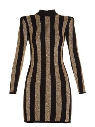 dress mini dress mini knit gold black