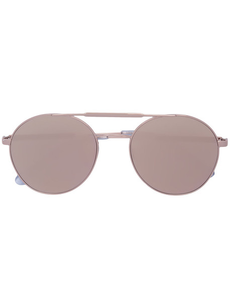 women plastic sunglasses grey metallic