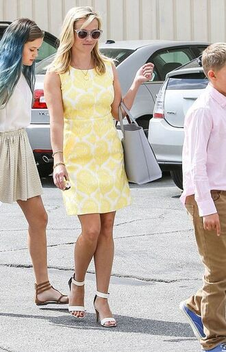 dress yellow dress reese witherspoon spring outfits