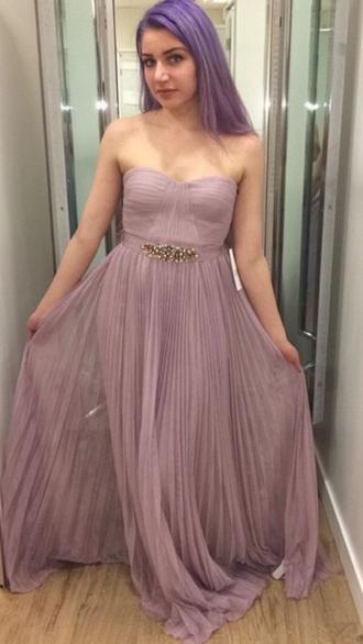 dress colorful violet fashion prom prom dress lavender prom dresses