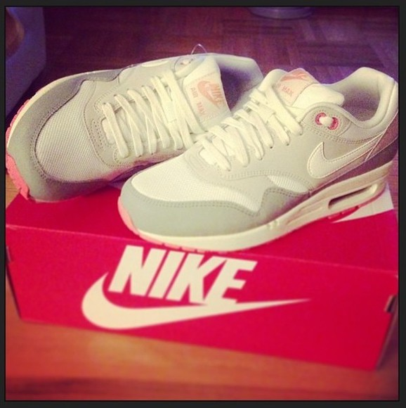 pink beautiful shopping shoes nike airmax white trainers deadly in love followme new