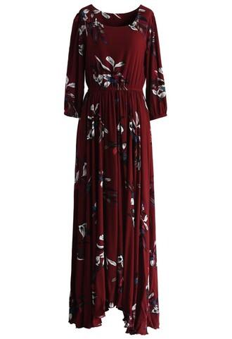 dress chicwish maxi dress floral floral maxi dress