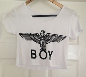 White Boy London Crop Top Medium | eBay