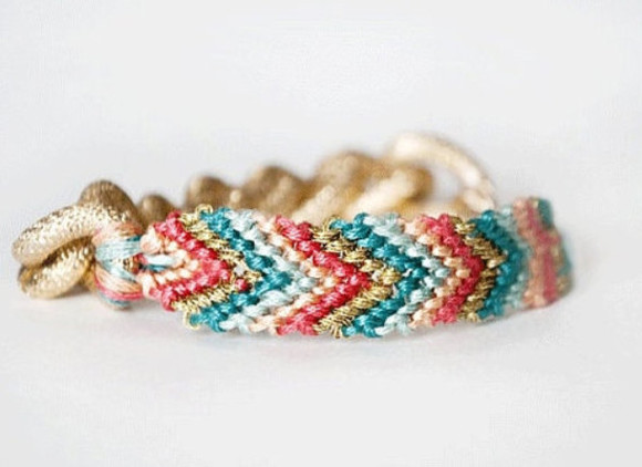 jewels bracelet gold friendship bracelet gold chain turquoise coral pastel blue teal chunky chain spring trend stack arm candy arm party stackable love mint