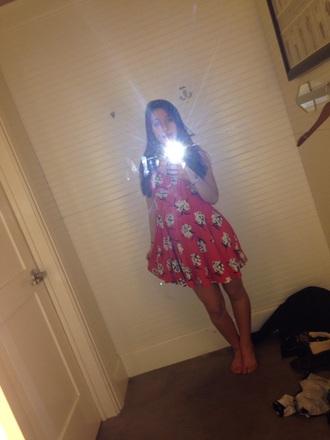 dress pink dress abercrombie & fitch floral dress