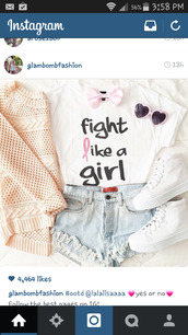 scarf,shirt,girl,girly,cute,t-shirt,ripped jeans,ripped shorts,quote on it,love quotes,cardigan,bows,hair bow,sunglasses,heart,heart sunglasses,pink heart sunglasses,pink hearts,stand up for cancer,cancer t-shirts,cancer tees,cancer ribbon tees,cute top,cute shorts,sweater,style,shoes,shorts,white converse,converse,high top converse