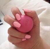 jewels,nail polish,make-up,eos,eos lipbalm,eoslipbalm,lip balm,pink,lip balms,face care